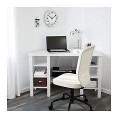 Bureau D Angle Blanc 120x73 Cm Brusali Idées Pour La