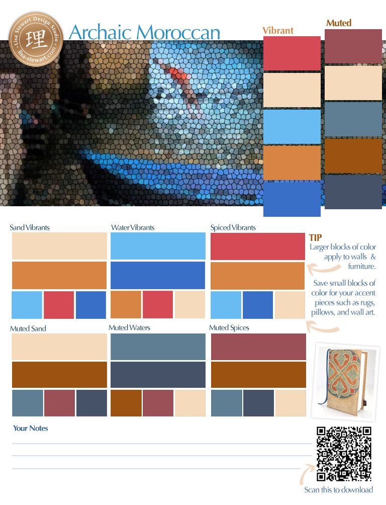 Color Palettes For Moroccan Design Moroccan Colors Interior Paint Colors Painted Interior Doors