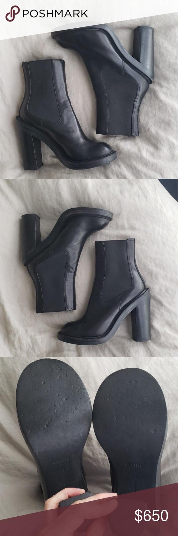 Celine Heeled Chelsea Boots Chelsea boots, Boots, Celine