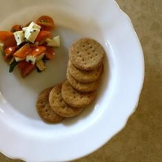 Spicy Cornmeal Parmesan Crackers