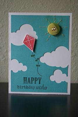 Kite birthday card