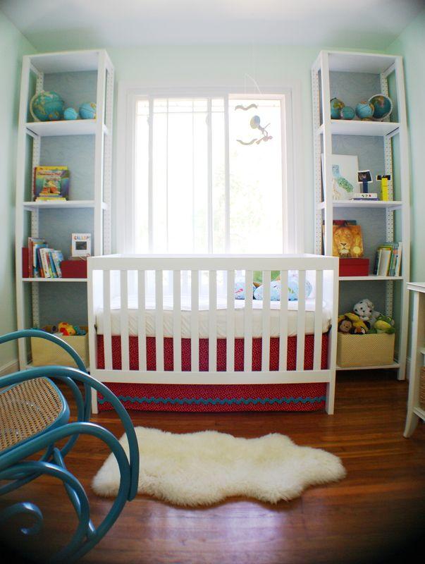 Jumbo Ric Rac On Crib Skirt Babies Room Rocking Chair