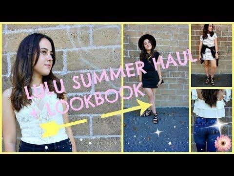 LULU HAUL + LOOKBOOK // MY FIRST VIDEO !!! - YouTube