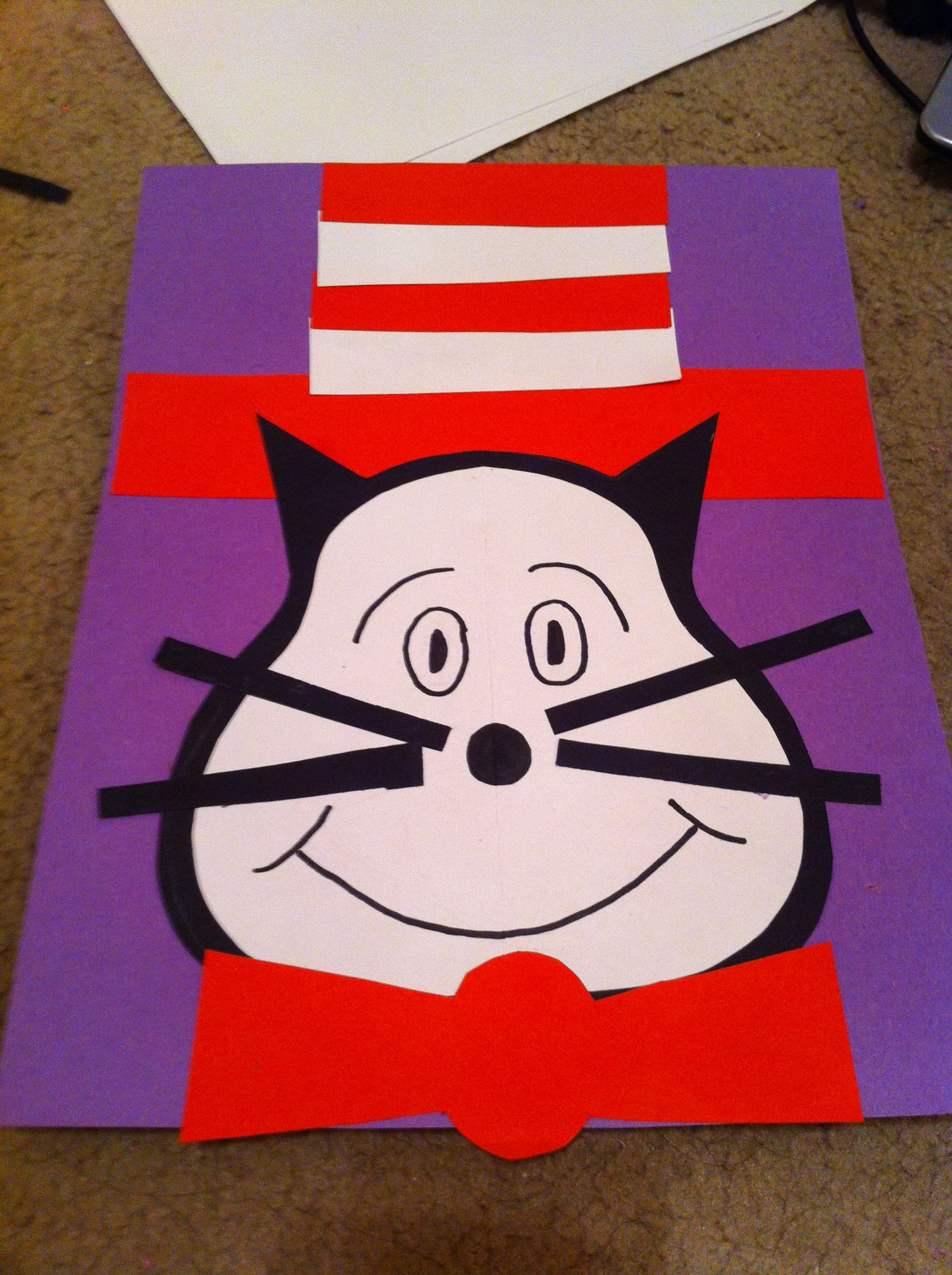 Cat In The Hat Craft For Preschoolers Dr Suess Birthday