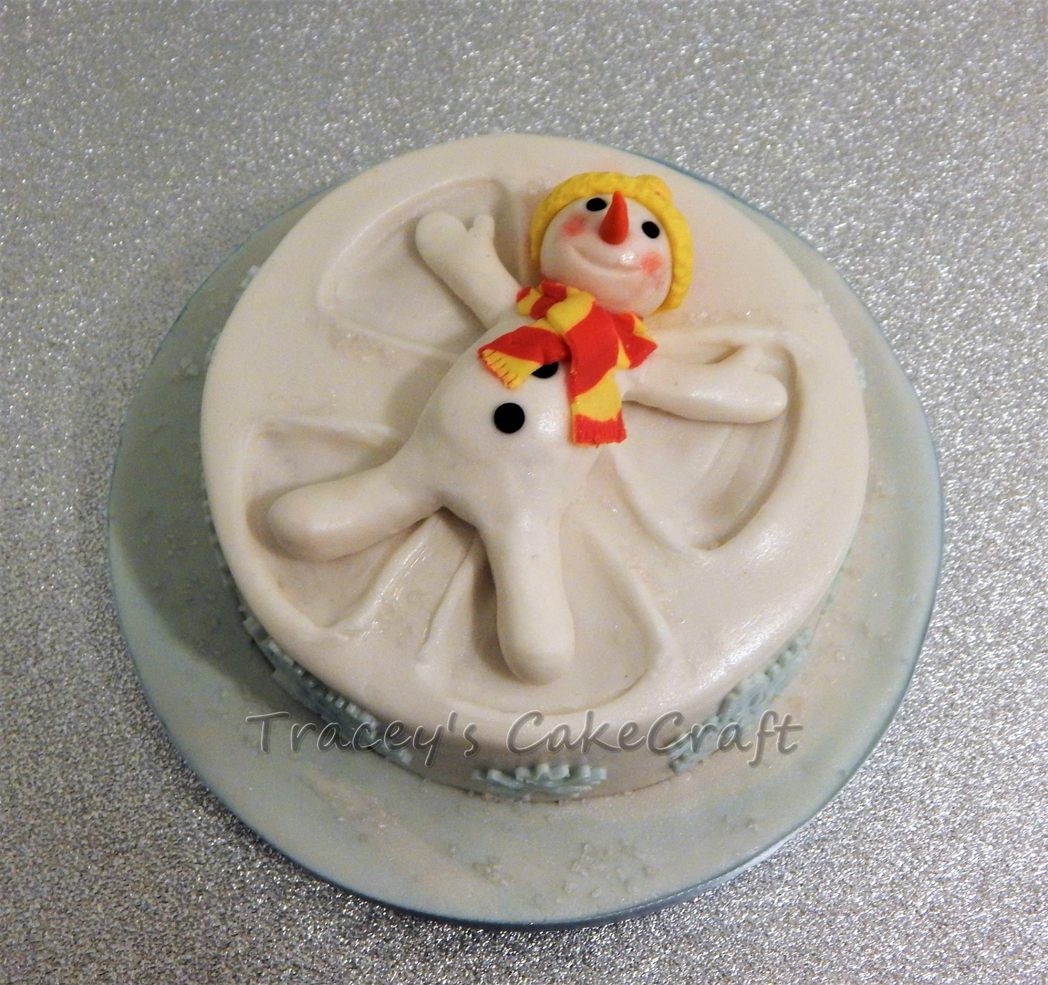 Snowman Snow Angel Christmas Cake Christmas Cake Cake Creations