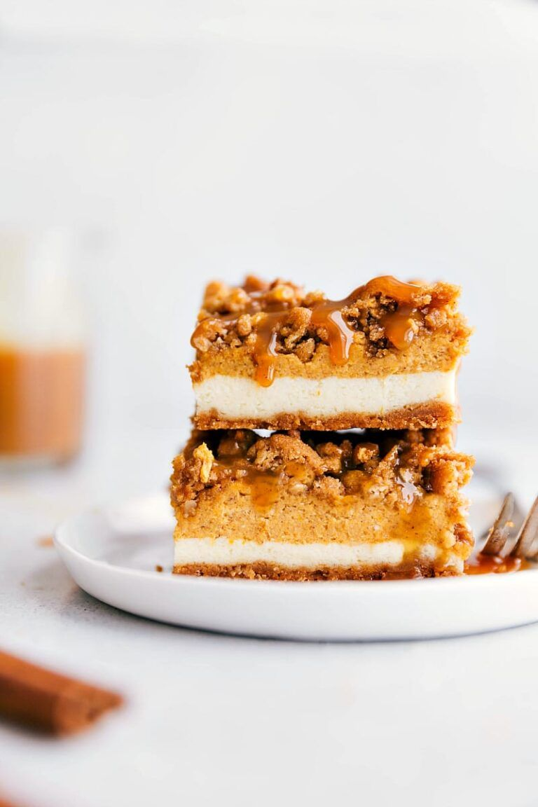 Pumpkin Cheesecake Bars {With Video!} | Chelsea's Messy ...