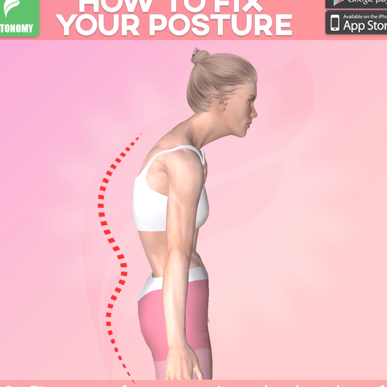 Posture exercises help you to strengthen the muscles in your back and stand a little taller. #fitono...