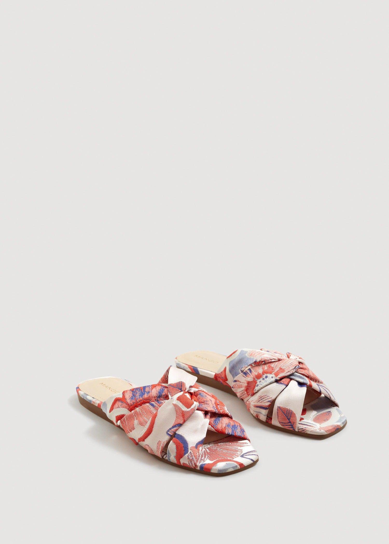 MANGO Embroidered slingback sandals N9MST2