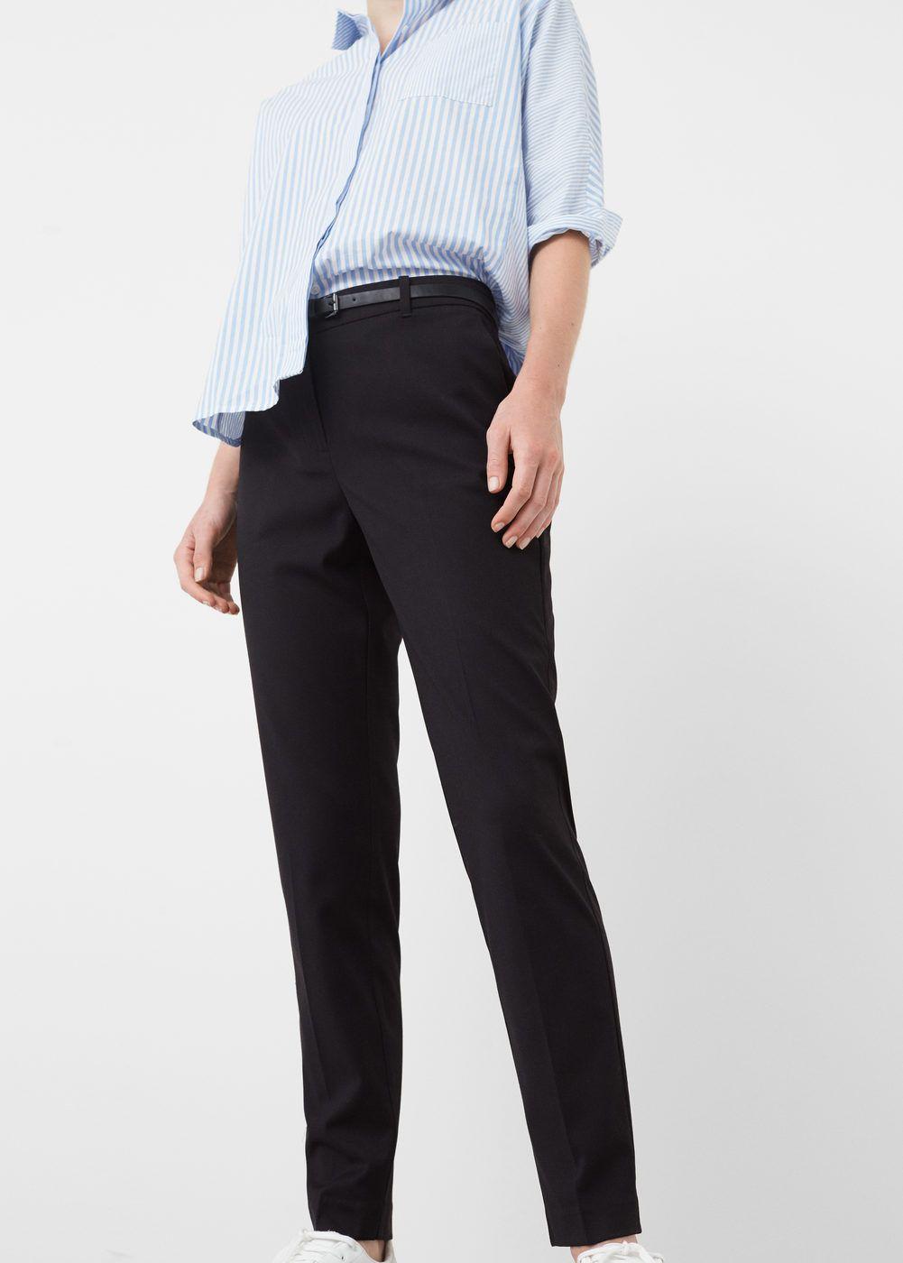 Pantalón recto traje - Pantalones de Mujer  3901b992b2a