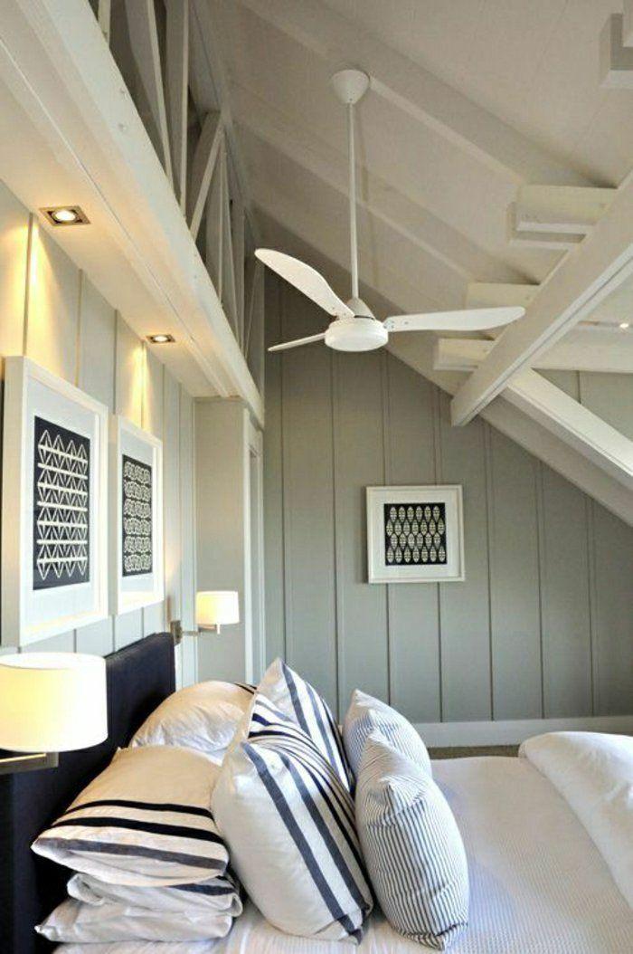 Le ventilateur de plafond, toujours à la mode! Attic design and Attic - ventilateur de plafond pour chambre