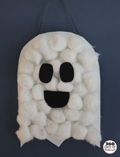cotton ball ghost craft for kids halloween - Toddler Halloween Craft Ideas