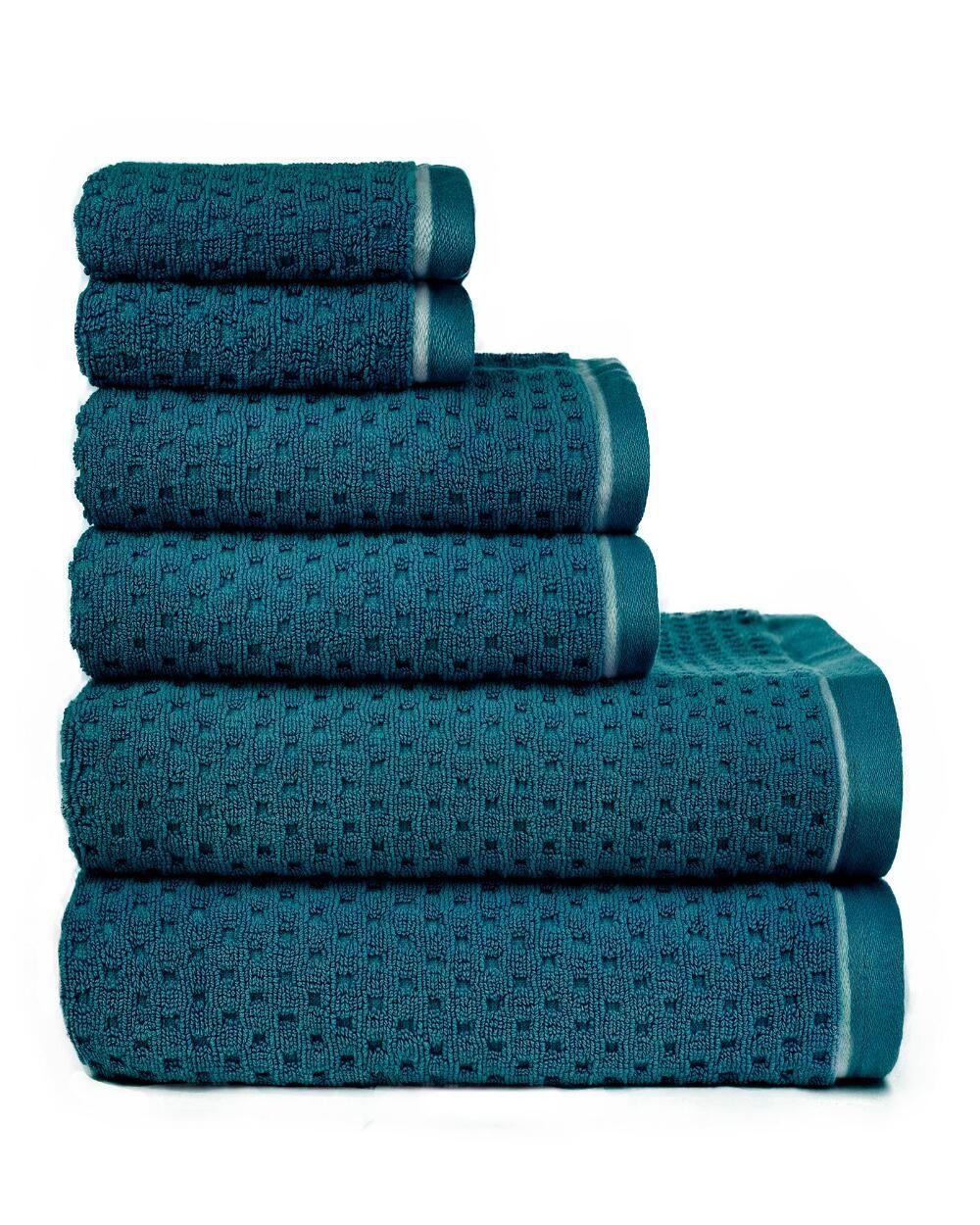 6 Piece Riley Textured Bath Towel Set Bath Towel Sets Bath