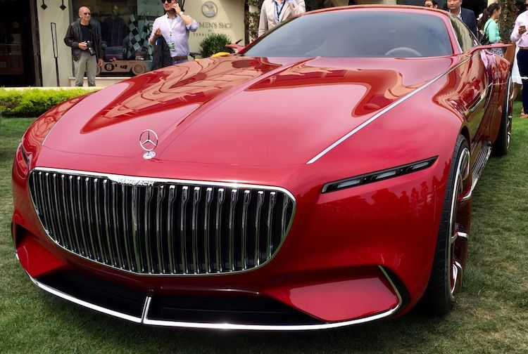 2016 pebble beach concours d elegance vision mercedes for Mercedes benz maybach 6 price