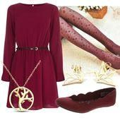 #Budget  #Outfits  #Teacher  #Teachers #Outfits #Teacher's Teacher Outfits on a Teacher's Budget 155  Beautiful color, like the shape and belt.  Even like the necklace.  Surprisingly, not keen on the origami earings.