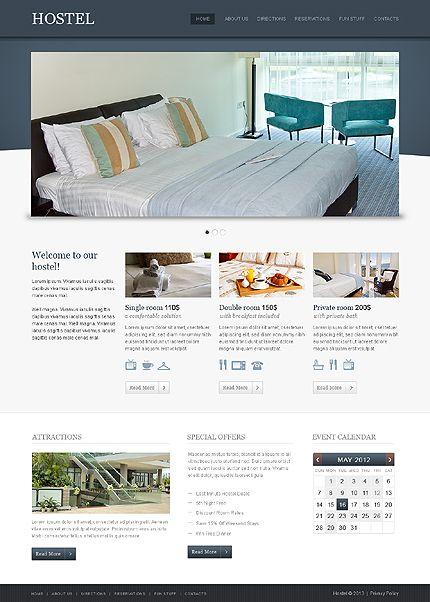 'Hostel' Clean Joomla #Website #webdesign 42987