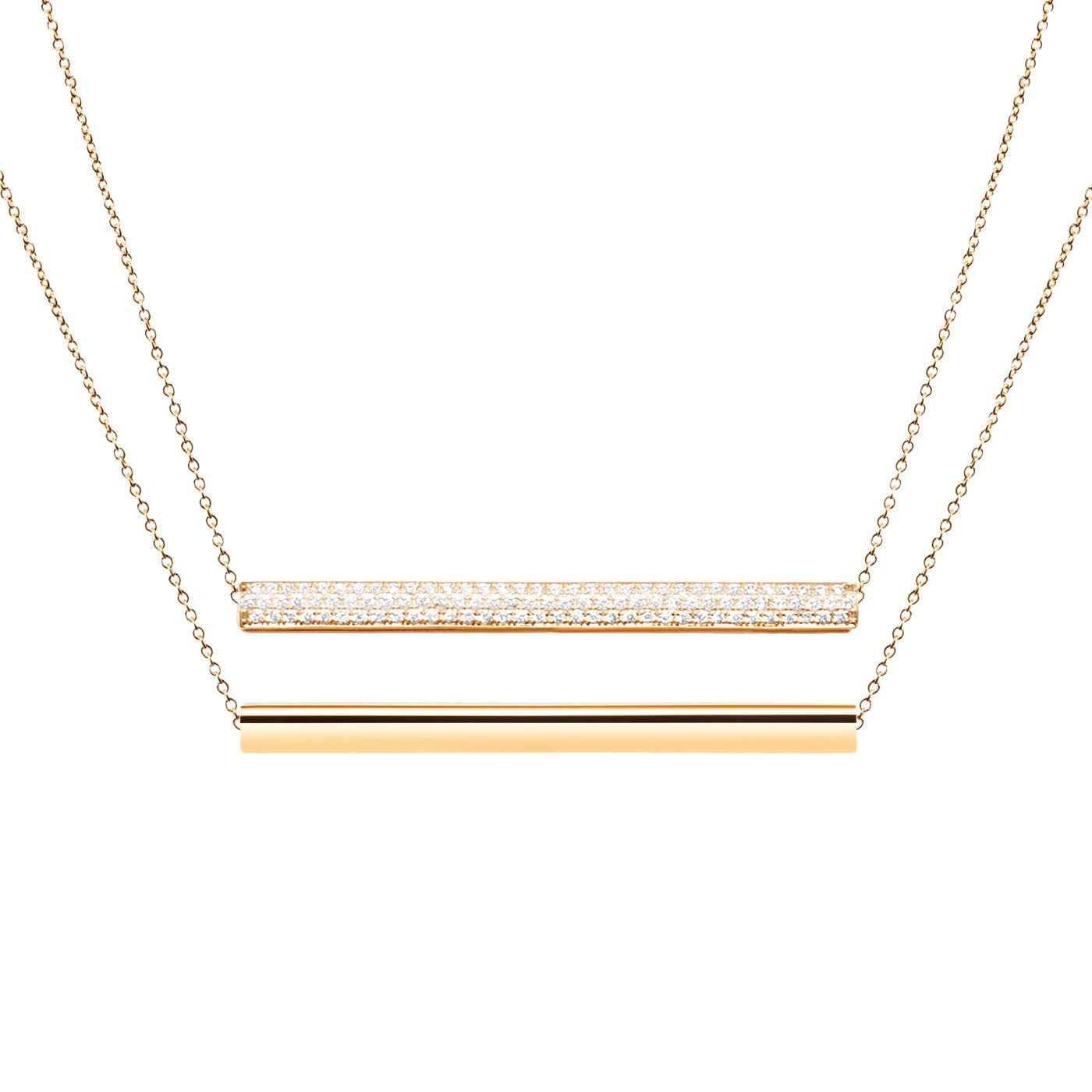 #MelissaKayeJewelry Ellie #necklace in #18k yellow #gold with #diamonds #jewelry #finejewelry #yellowgold #fashion #style