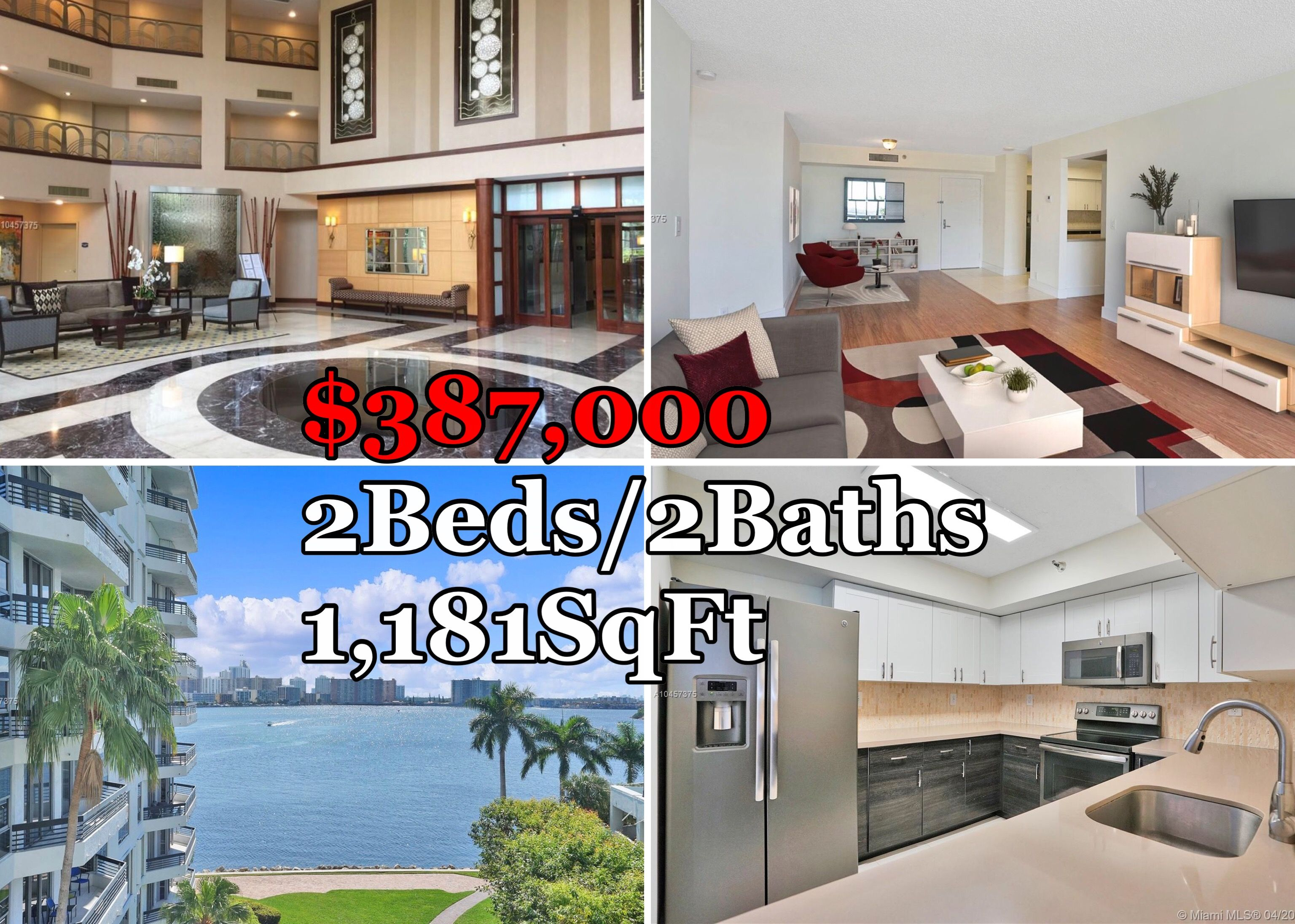 Best Deals In Aventura Two Bedroom Condos For Sale Under 400 000 Low Maintenance Low Property Taxes 1 72 Millage Con Condo Real Estate Condos For Sale