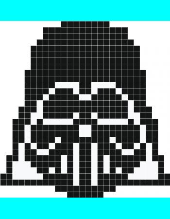 Darth Vader Pixel Art Stickaz Pony Bead Patterns Pixel