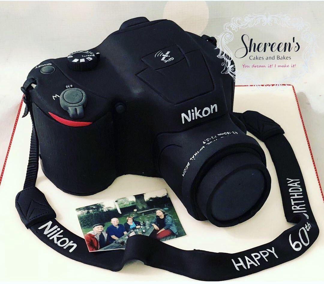 Pleasant Nikon Camera Birthday Cake For A Photographer Dogum Gunu Personalised Birthday Cards Sponlily Jamesorg