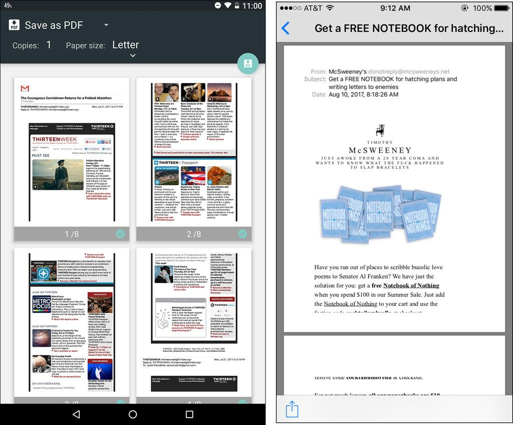 Creating PDF Files on Your Phone Free notebook, Pdf