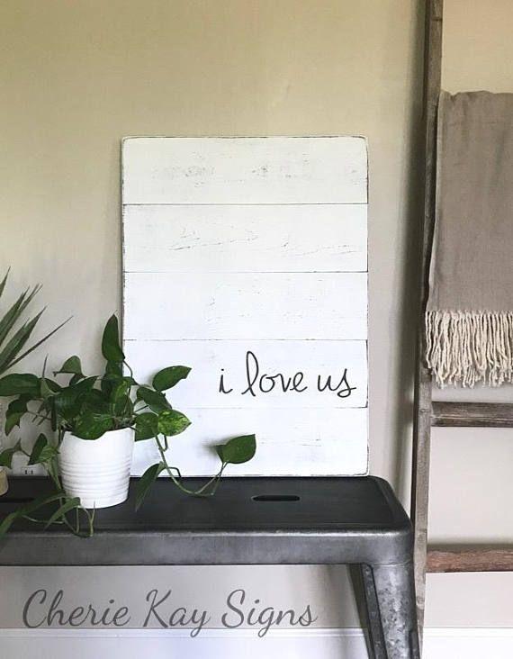 Bedroom sign | i love us sign | farmhouse bedroom decor | farmhouse ...