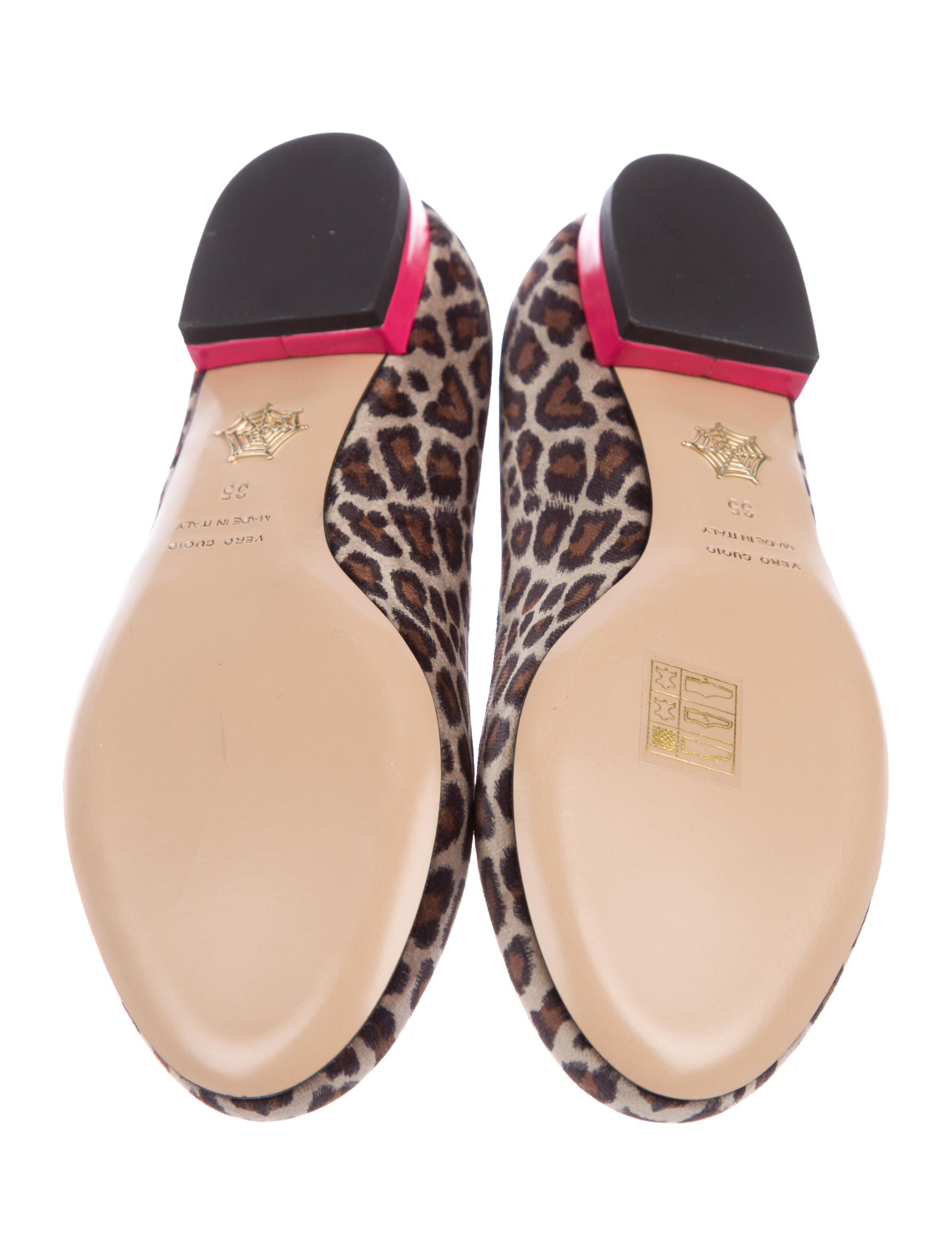1200441b8df9 Tan and pink velvet Charlotte Olympia for Barbie round-toe loafers with pink  stitching at vamps