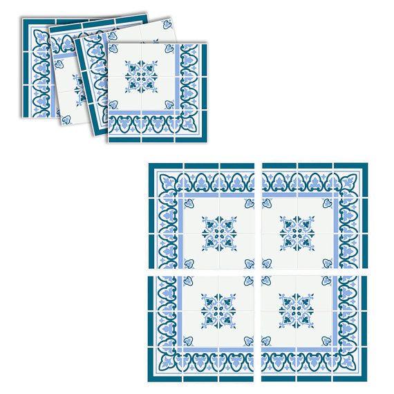 Fliesenaufkleber Klassisch Blau Fliesendekor | Prodotti di bellezza | {Fliesendekor 22}