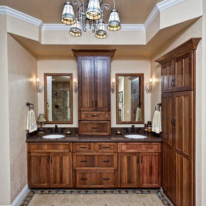 Stain Bathroom Cabinets Darker hickory cabinets stained dark with medicine cabinet unit in middle