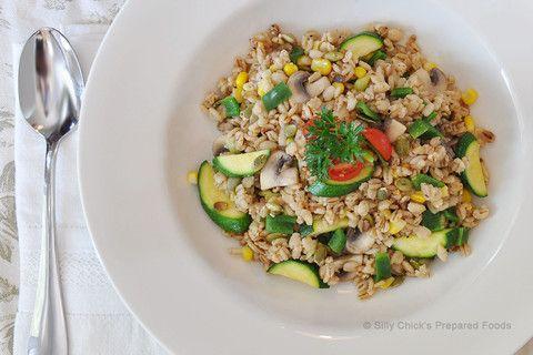 3) Bulgar Pilaf w/Zucchini