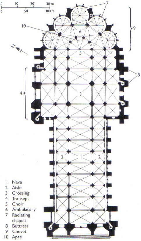 reims cathedral floor plan