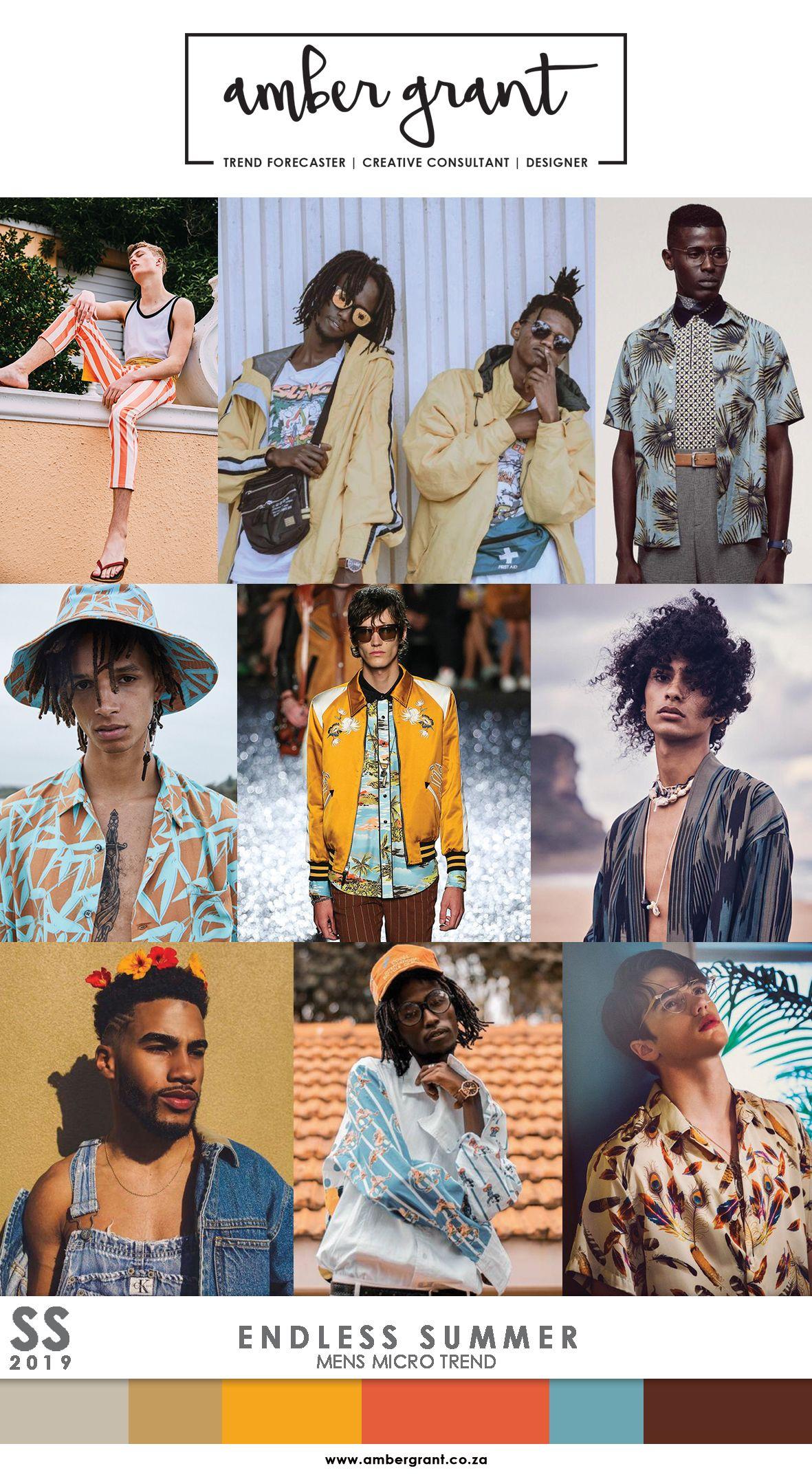 SS19 Mens Micro Trend: Endless Summer www.ambergrant.co.za ...