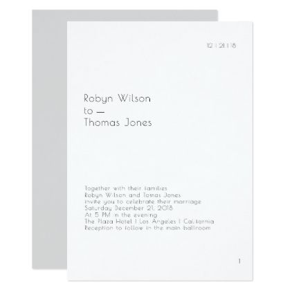 Modern Book Page Wedding Invitation 5x7 - invitations personalize