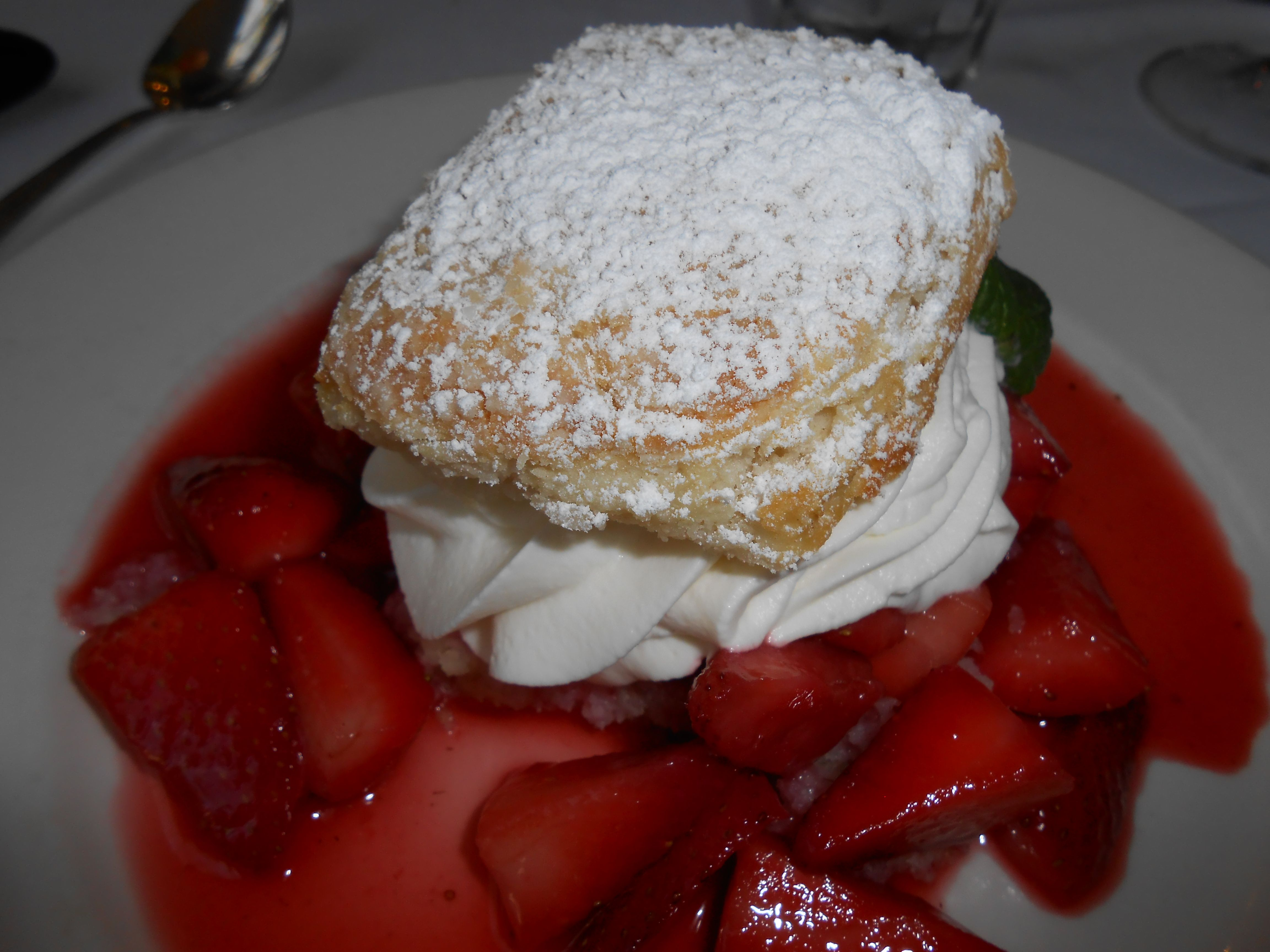 Strawberry shortcake at Commander's Palace Restaurant in New Orleans