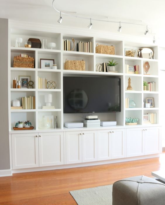 Cómo decorar un mueble de salón antiguo | Built in | Salones ...
