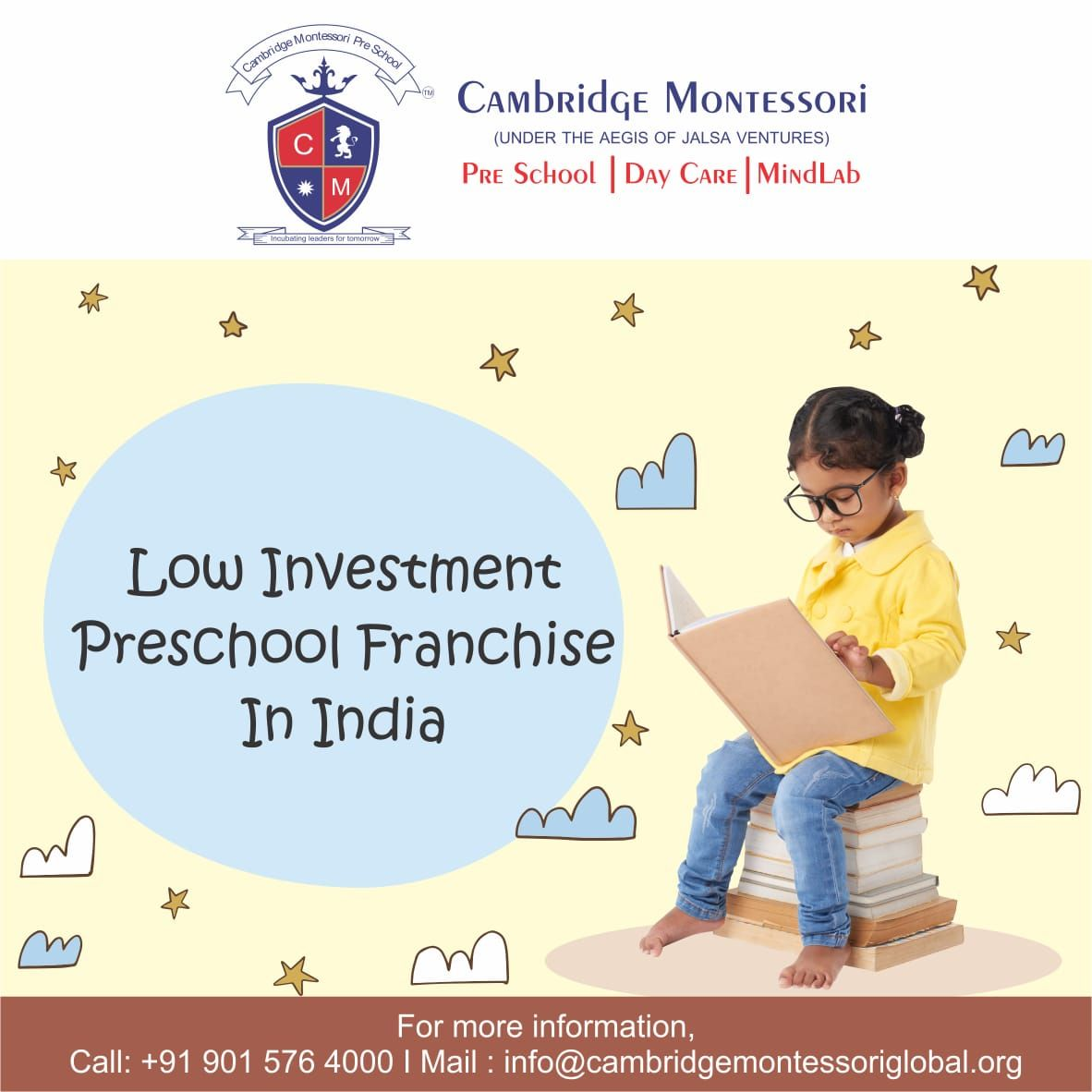 Low Investment Preschool Franchise in India in 2020