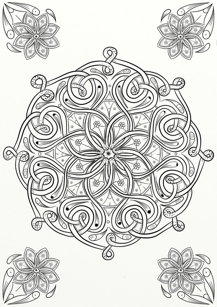 Celtic Knot Flower Design Coloring Page By LorraineKellydeviantart On DeviantArt