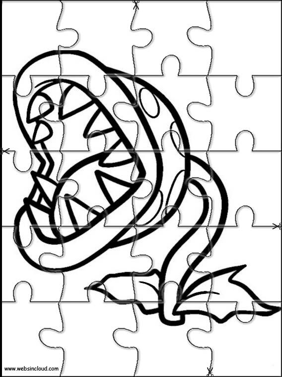 Printable jigsaw puzzles to cut out for kids Mario Bros 9