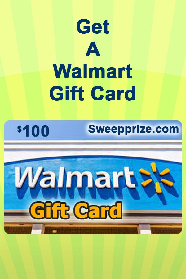 Photo of Walmart gift card giveaway.
