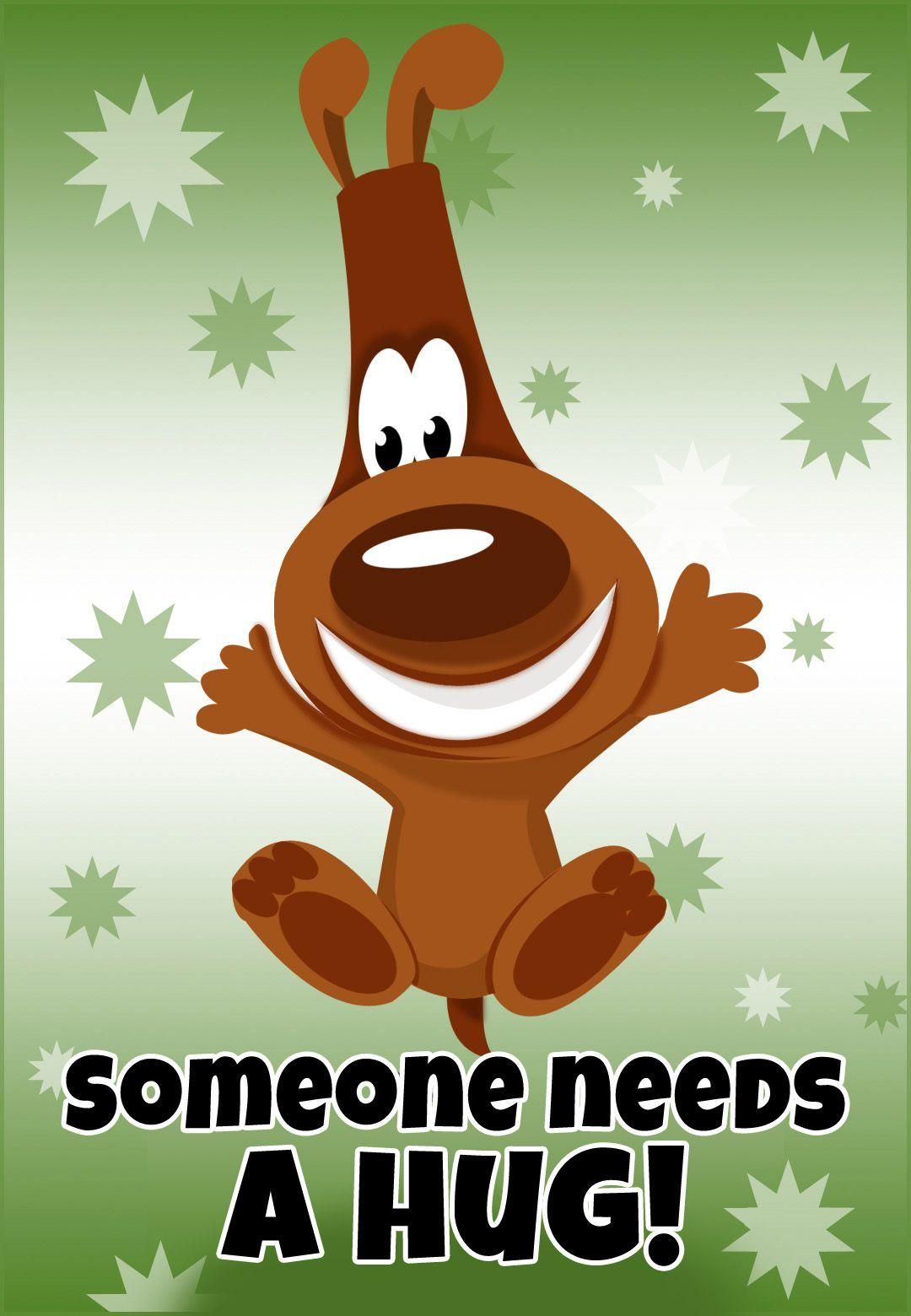 Free printable someone needs a hug greeting card