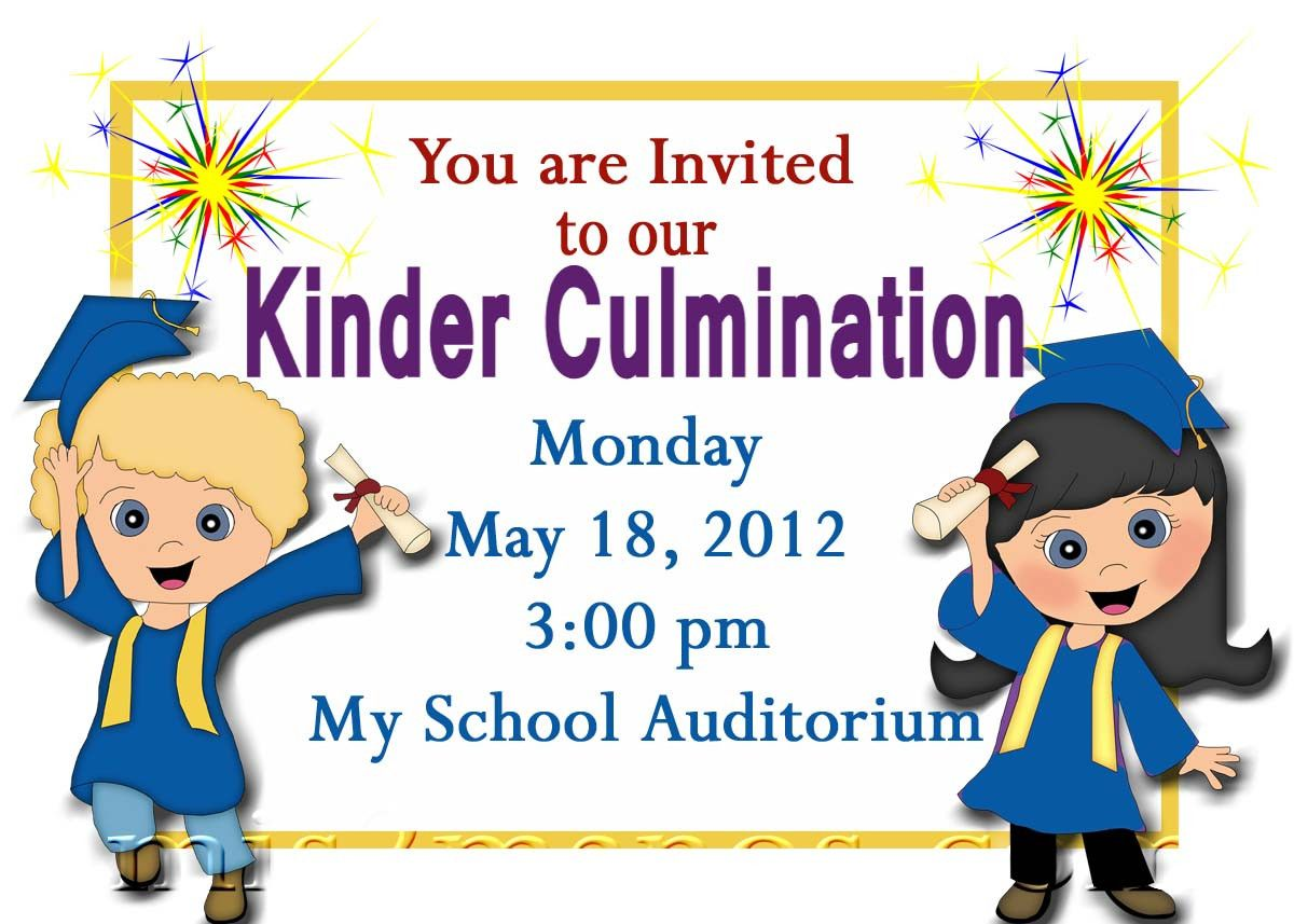 free printable kindergarten graduation announcements graduation invitations templates [ 1200 x 857 Pixel ]
