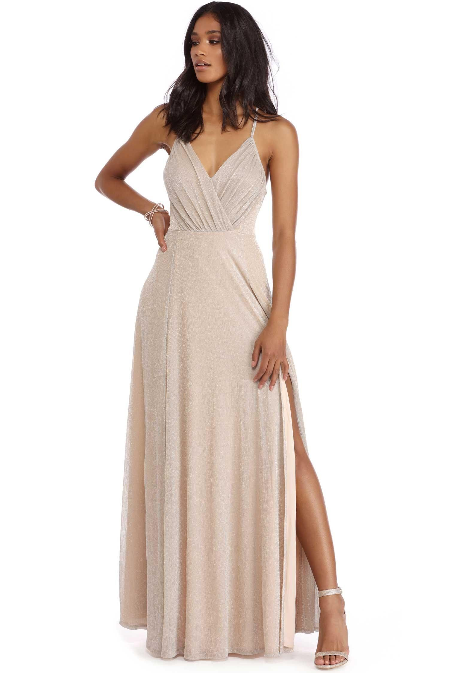 Veronica Gray Shimmer Evening Gown