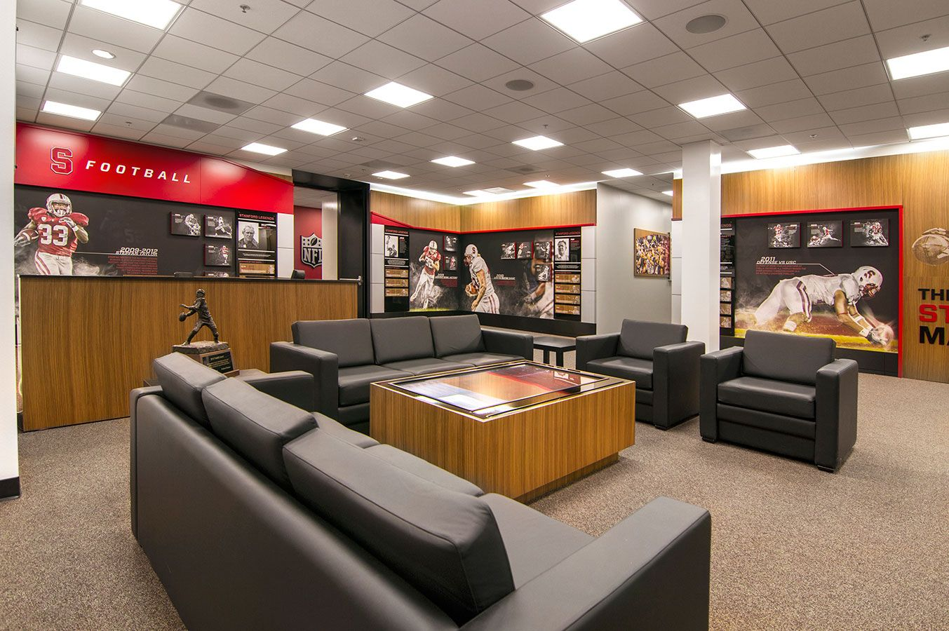Stanford Football Offices And Locker Room