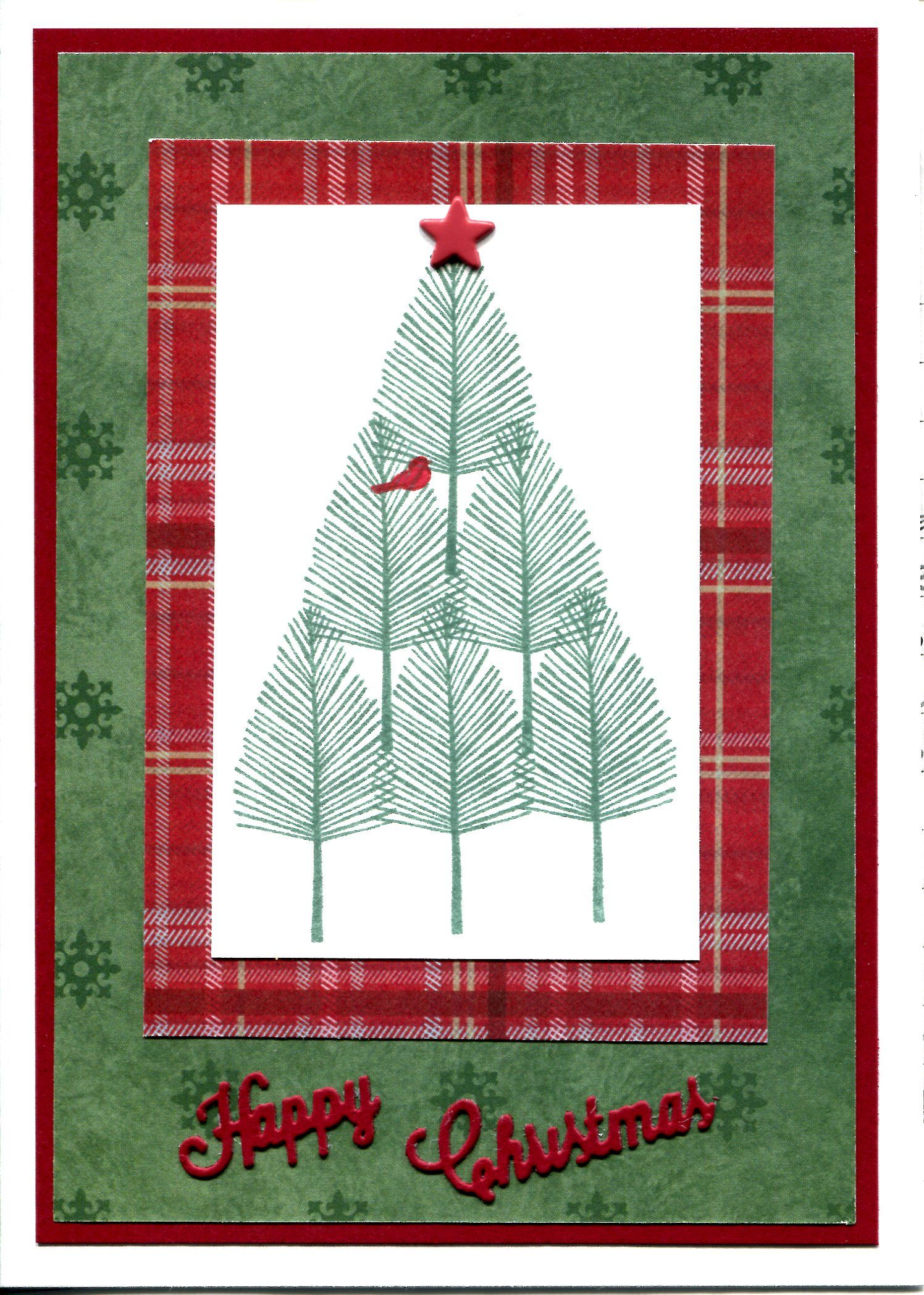 Handmade Christmas Card. My version of an idea seen on Pinterest ...