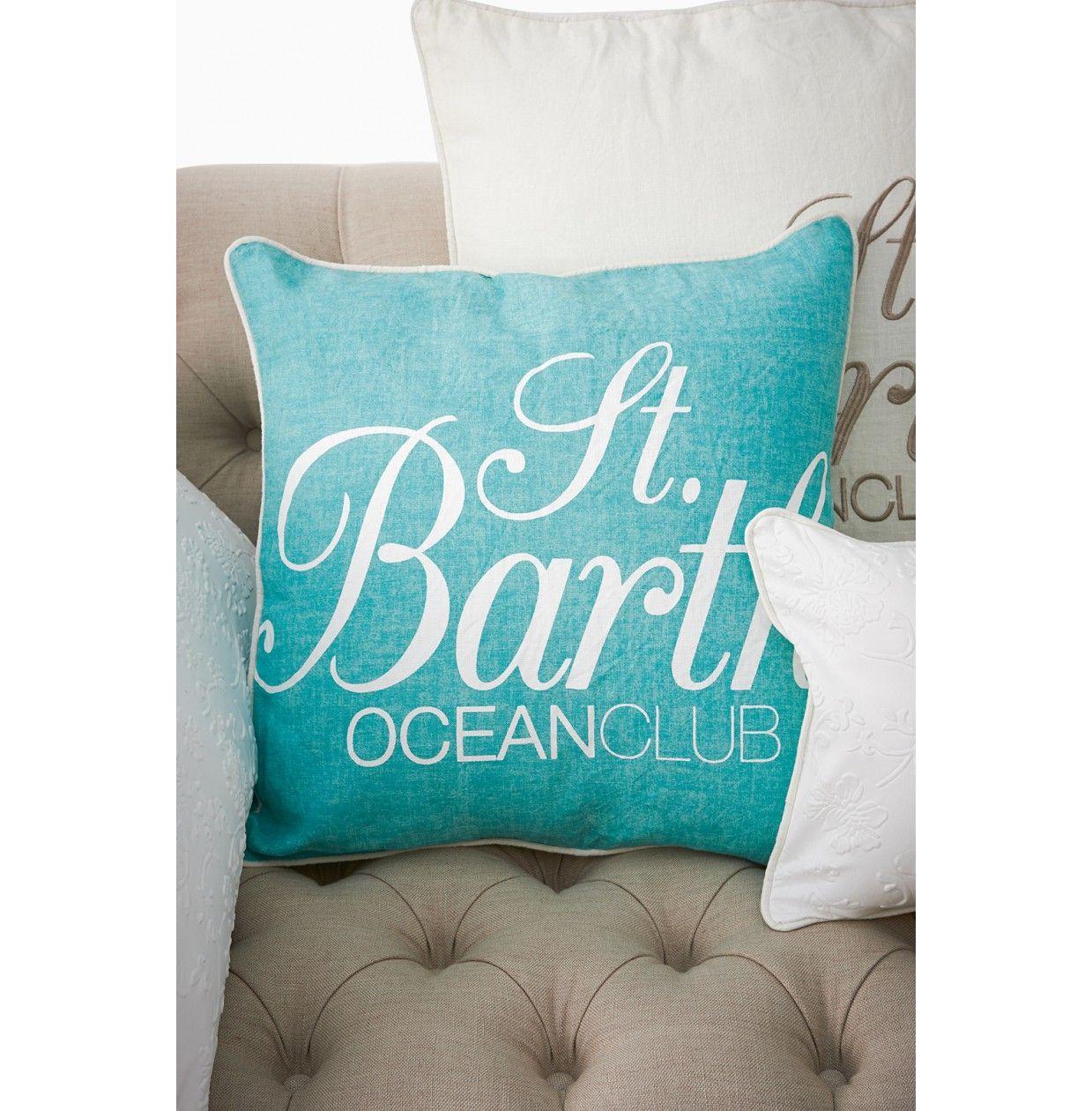 st barths aqua pillow cover 50x50 rivi ra maison kussenhoes riviera maison pinterest. Black Bedroom Furniture Sets. Home Design Ideas