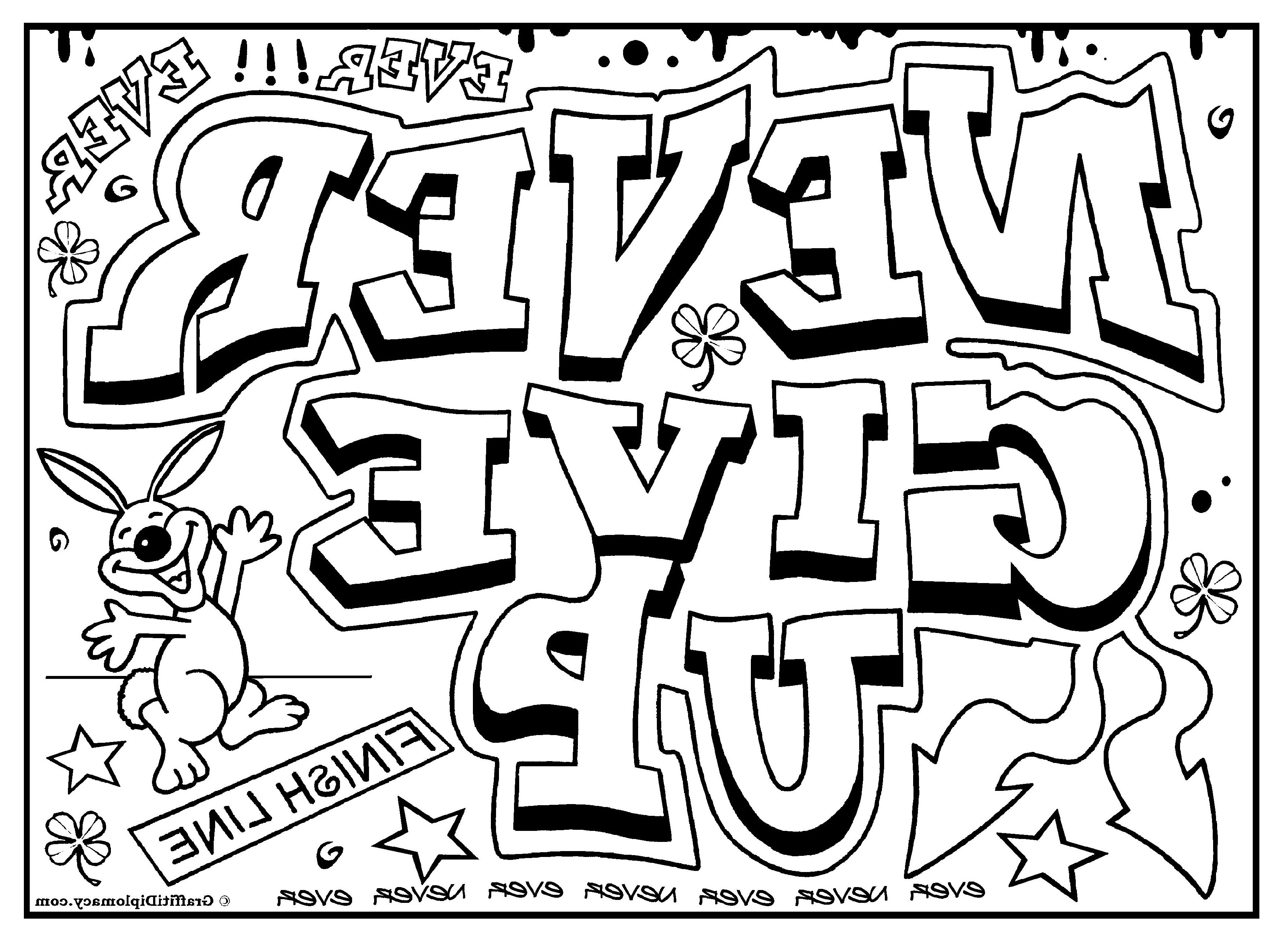Coloring Pages For Teenagers Graffiti | Coloring pages for ...