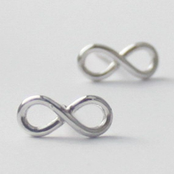 Infinity Earrings 925 Sterling Silver Inspirational