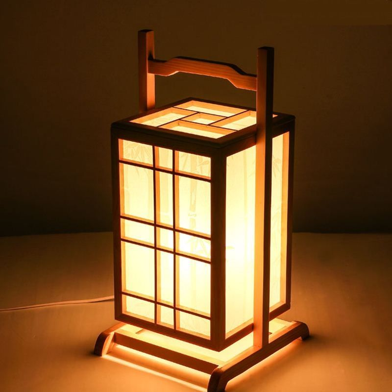 Japanese Floor Lamps Wooden Lantern Creative Personality Wood Color Lamp Nordic Bedside Lamps Lu815312 In Flo Wooden Lanterns Japanese Lamps Wooden Floor Lamps