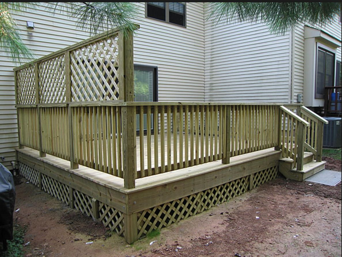 Best Privacy Deck Trellis Decks Backyard Deck Privacy 640 x 480