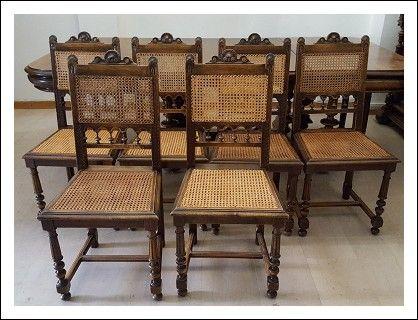 Sedie Antiquariato ~ Sedie liberty ! antiche 180 seduta in pelle poltrone seggiole