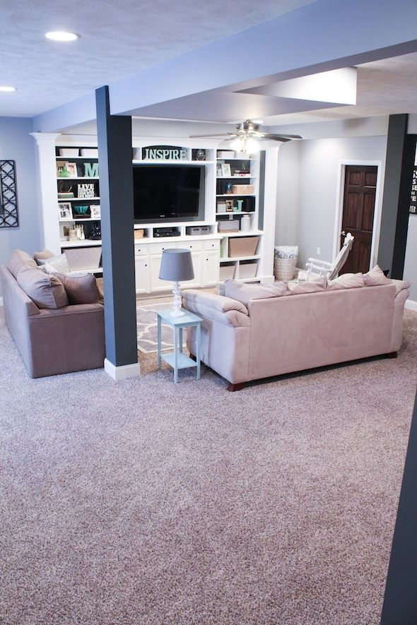 Finished basement ideas before after floor coverings for Best floor covering for basement